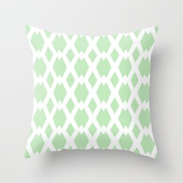 Daffy Lattice Mint Throw Pillow