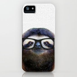Hipster Sloth iPhone Case