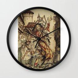 El flautista de HAMELIN Wall Clock
