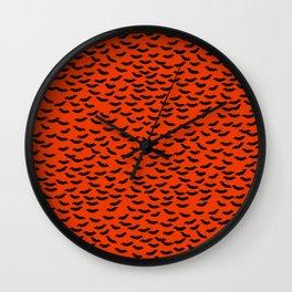 Bats in the Belfry-Orange Wall Clock