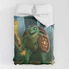 Turtle Paladin Duvet Cover