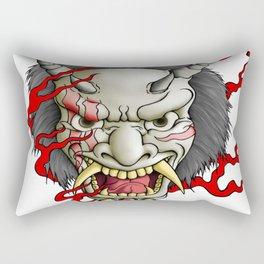 Oni Mask Rectangular Pillow