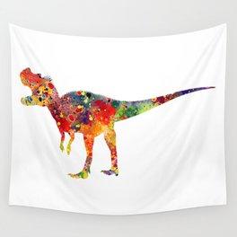 Ceratosaurus Dinosaur Art Colorful Watercolor Art Gift Prehistoric Art Animals Lovers Art Kids Gifts Wall Tapestry