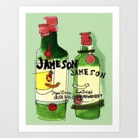 James & Son Art Print
