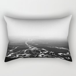 Disappearing Trails B&W Rectangular Pillow