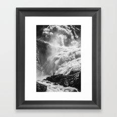 Dancing Falls Framed Art Print