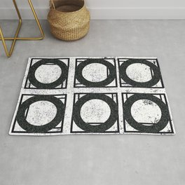 Beyond Zero in black and white Rug