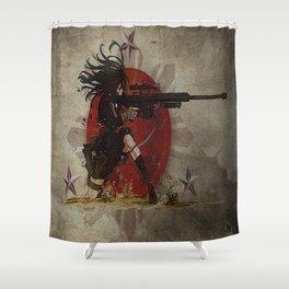 3stars and the rising sun tzu sniper_diva of death Shower Curtain