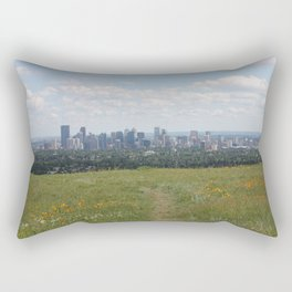 View of Calgary from Nosehill Rectangular Pillow