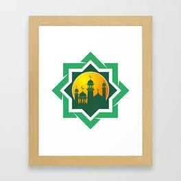 Symbol of Muslim Framed Art Print