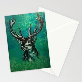 Stag Head Stationery Cards