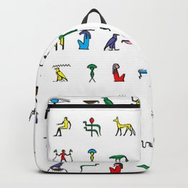 Egyptian hieroglyphics pattern Backpack