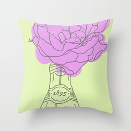 Rose and lemonade Throw Pillow