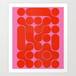 Abstract mid-century shapes no 6 Art Print