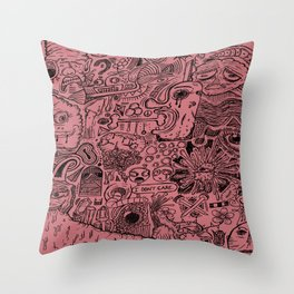 Dry Spring Psycho Derby Throw Pillow