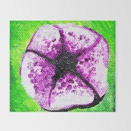 Purple Flower - Mazuir Ross Throw Blanket