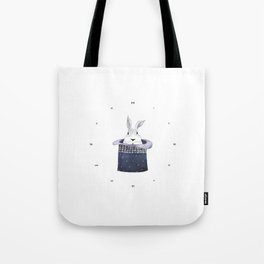 Mr. Rabbit and the Mad Hatter hat Tote Bag