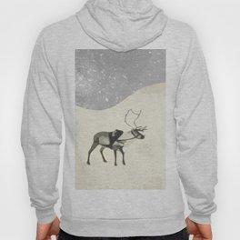 Deer in the snow Hoody