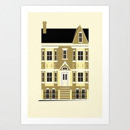 A house (olive option) Art Print