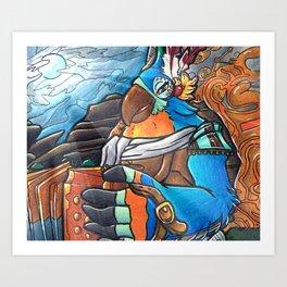 Kass- BOTW Art Print