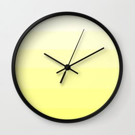 Soft Yellow Hues Palete - Color Therapy Wall Clock