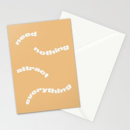 Need Nothing Attract Everything Stationery Cards