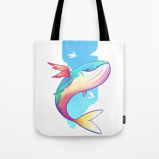 The Sky Whale Tote Bag