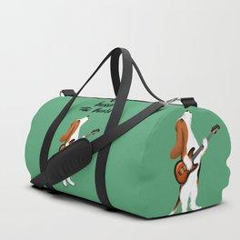 Basset the Bassist (Green) Duffle Bag