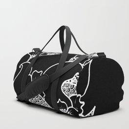 Amphora - Black White Duffle Bag