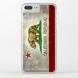 California flag - Retro Style Clear iPhone Case