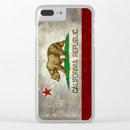 California flag - Retro Style Clear iPhone Case