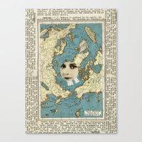 virginia Canvas Prints featuring Virginia by Ubik Designs