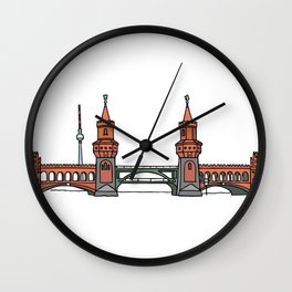 Oberbaum Bridge in Berlin Wall Clock