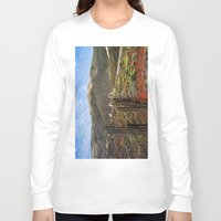 big sur Long Sleeve T-shirts featuring Big Sur Mountains by Jeremiah Wilson