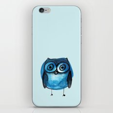 Blue Owl Boy iPhone & iPod Skin