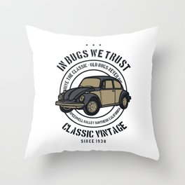 in bugs we trust Throw Pillow
