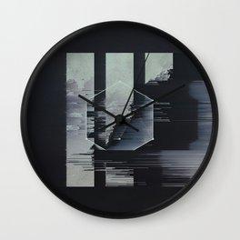 glitch art Wall Clock
