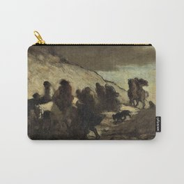 12,000pixel-500dpi - Honore Daumier - The Fugitives - Digital Remastered Edition Carry-All Pouch