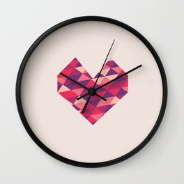 Love Triangle Wall Clock