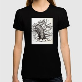 sunflower black and white T-shirt