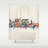 south africa Shower Curtains featuring Cape Town South Africa by bri.b