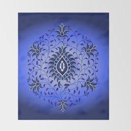 antique blue hue Throw Blanket