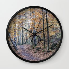 Looking for The Right Path (Fageda d'en Jordà, Catalonia) Wall Clock
