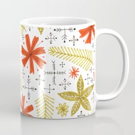 red and green floral Coffee Mug