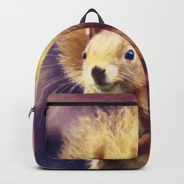 squirrel digital oil paint dopfn Backpack