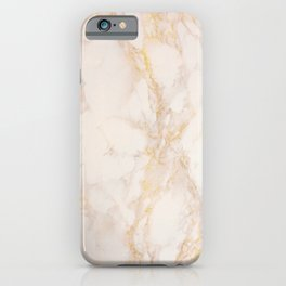 Gold Marble Natural Stone Gold Metallic Veining Beige Quartz iPhone Case