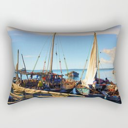 Dhow Stone Town Port Zanzibar Rectangular Pillow