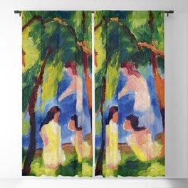 "August Macke ""Badende Mädchen (Girls bathing)"" Blackout Curtain"