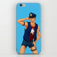 resident evil iPhone & iPod Skins featuring Resident Evil: Policeman Piers by Margaret Esaak