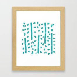 water color pattern - turquoise Framed Art Print